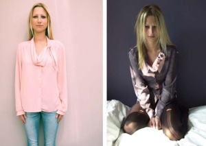 Part of the boudoir collection - before and after the up-cycling process.