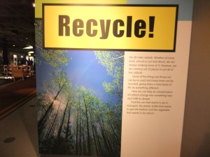 Think Tank Museum in Bimingham. Recycle waste interactive exhibit.