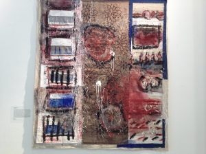 Yael David-Cohen – uses waste textiles and paint media for mixed media textile work
