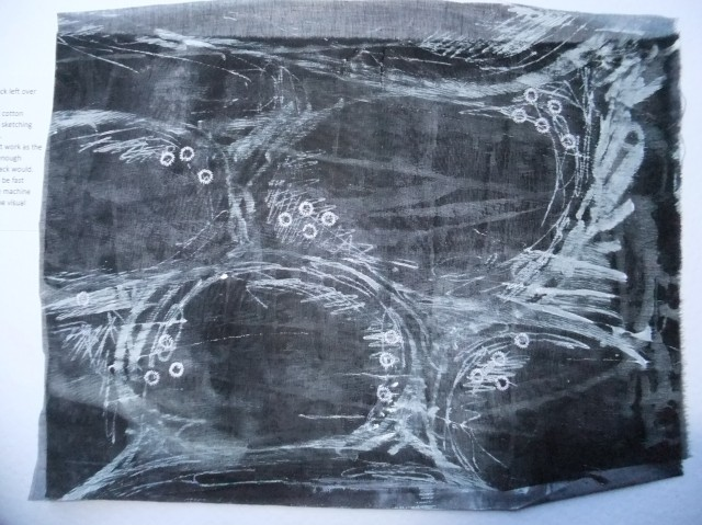 sample 3 - monoprint in black sheer