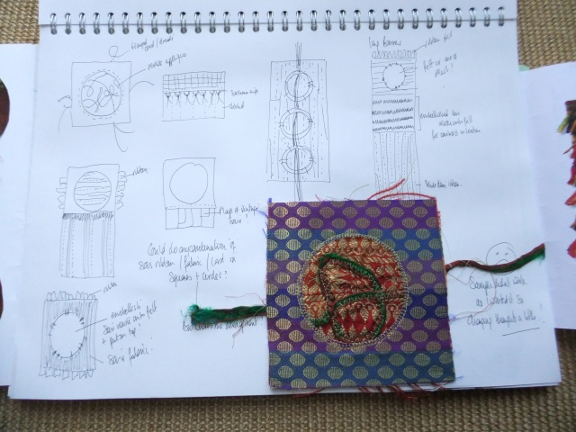 Sketchbook page 3 - recording further ideas before I forget them !