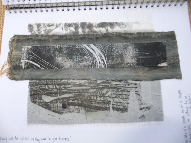 Some further experiments in the sketchbook using the reject bits - amazing what you can make from the bits you throw away !