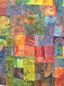 JANET TWINN – monoprinted patchwork and quilted