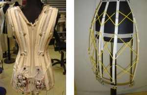 The above 2 pictures show how complex the animatronics and technology has to be to be able to programme the dress.