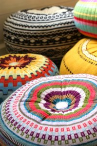 Floor cushions from discarded knitwear.  Photosource - http://www.etsy.com/uk/shop/theRemakerie