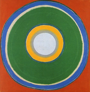 KENNETH ROWLAND - one of the many circle paintings during the 1950's.