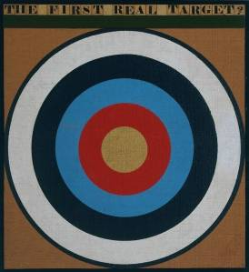 "The first real target - Peter Blake 1961. Note the simalarities with Jasper Johns ""Target with plaster casts"""