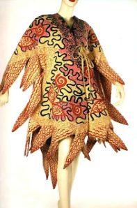 Zandra Rhodes 1970 coat in 'Chevron Shawl' print[1]