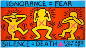"Keith Haring  ""Silence = Death"" 1989"