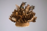 CONGO CURRENCY HAT mid 20th century (feathers & raffia fibre)