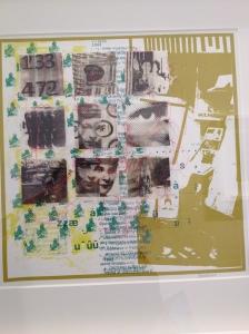 "JANE SASANOW  ""Hidden Histories"" Screen print and Chine colle"