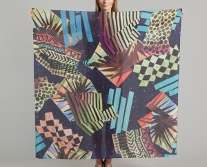 Digitally printed scarf by Milleneufcentquatrevingtquatre