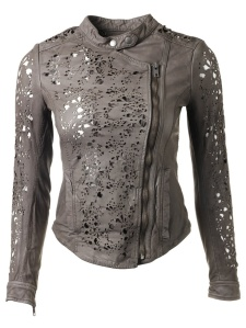 Muubaa Delaney  - laser cut leather jacket