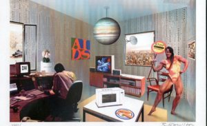 "Richard Hamilton - ""Just what is it that makes today's homes so different?""  Is a remake of the 1956 collage this one made in 1992"
