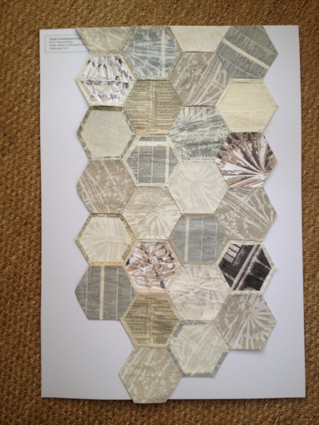 Part two of 4. Bodleian Library inspired textile work.