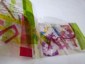 PAT HODSON – no title - Dyed, collaged, digitally printed Polyester