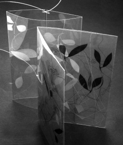 "PAT HODSON – ""Transparence"" - laser engraving and sublimation printing onto Polyester film."
