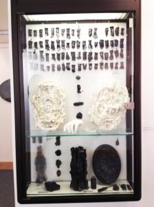 Michelle Mary Dawson - Memento Mori Cabinet 2. Black and white wax and cotton wick