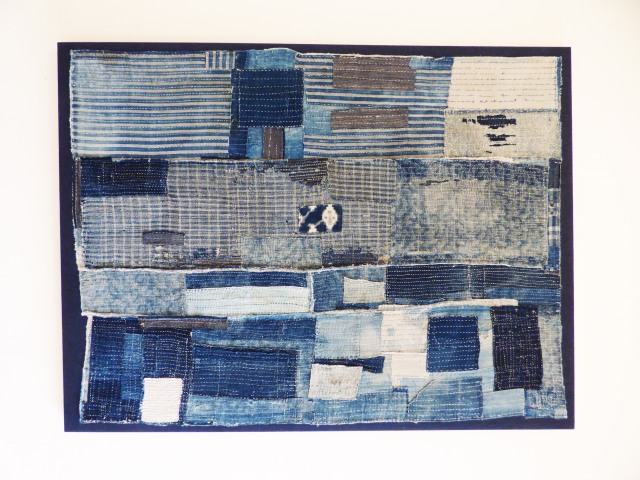 Artist unknown. (2013) Boro quilt [Indigo dyed cotton and hemp, Sashiko hand stitching] 'Boro – Threads of Life' exhibition. London: Somerset House 2nd – 26th April