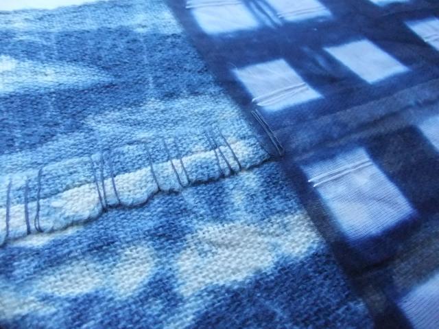 Redding, P. 2014 [ Cotton, linen, indigo shibori dye. ]