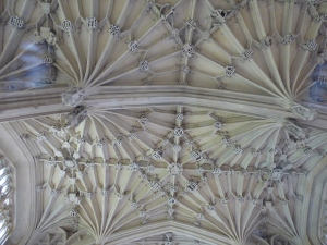 My photograph of the ceiling in The Divinity School was manipulated in Photoshop for a digital print.