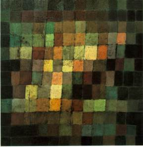 Klee, P. Ancient Sound, Abstract on Black 1925 Oil on cardboard. Kunstsammlung, Basel (Ref - http://sai.msu.su/wm/paint/auth/klee/klee.ancient-sound.jpg. Accessed May 2014)