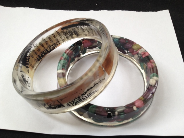 Two resin bangles