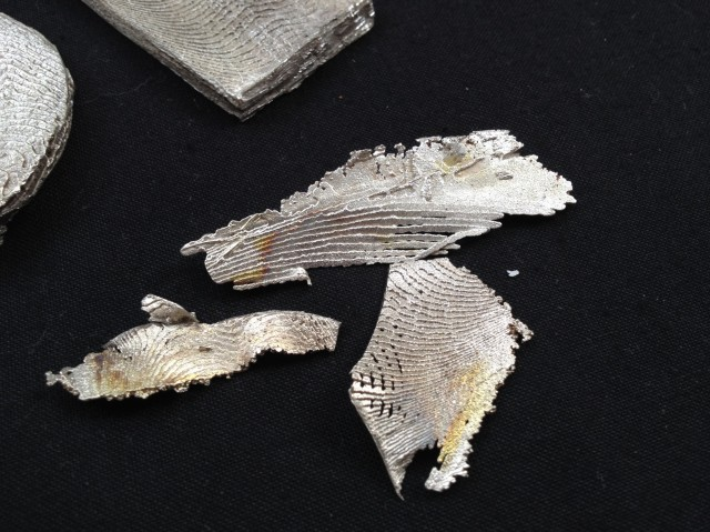 LOVE these ! they are only the over flow bits but they are wonderful pewter fish flakes !!