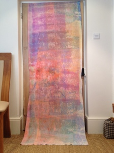 The full length fabric sample....reminds me a little of Jo Budd's work